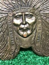 Vintage Sitting Bull CHIEF Of The Sioux Belt Buckle Winchester Rifle and Ammo
