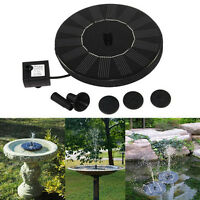 Floating Solar Powered Pond Garden Water Pump Fountain Pond For Bird Bath Tan TO