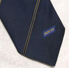 Norton Abrasivos empresa publicidad corporativa corbata Vintage Retro 1980s 90s Azul Marino