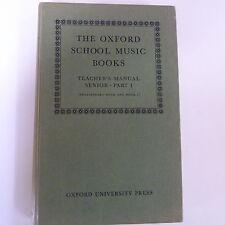 La SCUOLA OXFORD MUSICA LIBRI TEACHER's manuale Alti Part 1