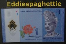 Malaysia 1 Ringgit (2017) New Sign Polymer  UNC P-51.