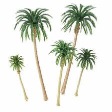 5 Pieces Model Trees Coconut Palm Tree Train Scenery Miniature Landscape Scenery
