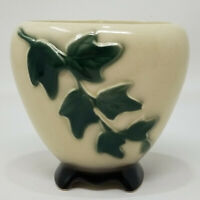 Vintage Royal Copely Cream Green IVY Footed Planter Mid Century