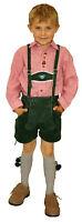 kurze Lederhose Stegträger Applikation Regulator Kinder Trachten Oktoberfest