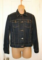 LUCKY BRAND Dark Wash Denim Trucker Jean Jacket Tomboy Women's Small EUC