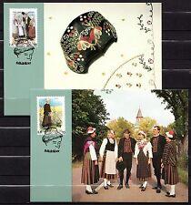Finland / Aland - 1993 Folklore - Mi. 72-73 official maximum card #10-11