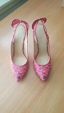 Charlotte Olympia NWOB $795 monroe rodeo slingback heels shoes EU 38.5 US 8