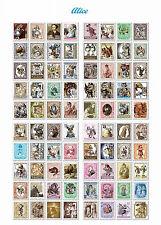 80x Stickers Alicia en el Pais de las Maravillas Pegatinas para Notebook 4367a