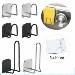 Kitchen Sponges Holder Self Adhesive Sink Sponges Drying Rack  Stainless Steel