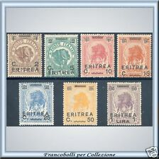 Colonie 1922 Eritrea Serie n. 54/60 Nuovi Integri ** z
