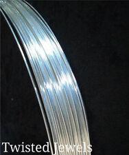 5ft 20 GA .930 Argentium Sterling Silver HALF-ROUND Half Hard Wire Gauge G USA