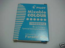 Pilot ink cartridge for parallel pen - turquoise