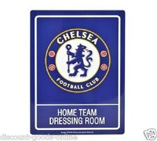 OFFICIAL LICENSED CHELSEA FC HOME DRESSING ROOM TIN SIGN STANFORD BRIDGE