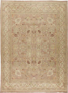 Contemporary Traditional Oriental Inspired T a b r i z Beige Rug N11396
