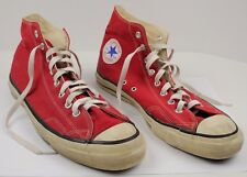 Vintage Converse Early Chuck Taylors Size 13 Extra Stitch Red