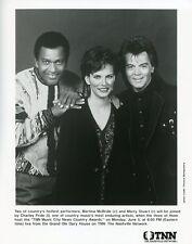 MARTINA MCBRIDE CHARLEY PRIDE MARTY STUART SMILE COUNTRY AWARDS '89 TNN TV PHOTO