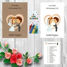 Personalised Childrens Kids Wedding Activity Pack Book Favour Free I Spy AB2