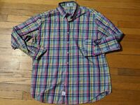 Peter Millar Men's XL Multi-Color Plaid Long Sleeve Dress Shirt