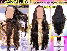 NATURAL CHEMICAL FREE HAIR DETANGLER OIL FOR STRAIGHT WAVY OR FINE HAIR