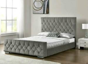 VELVET BED SALE: Velvet Handmade chesterfield Single, Double, King size UK