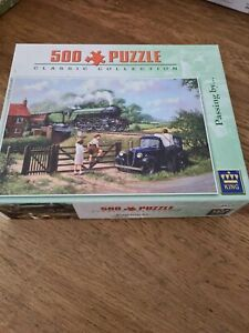 KING Classic Collection Passing By 500 Piece Jigsaw Puzzle Vintage
