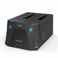 Inateck USB 3.0 Dual Bay Hard Drive Docking Station With Offline Clone Function