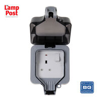 BG WP21 - Outdoor Garden Single Plug Socket Weather Proof Water Proof Socket