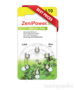 NEW ZeniPower Hearing Aid Batteries size 10 (A10) from Hearing Savers