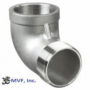 "3/8"" 150 Threaded (NPT) 90° Street Elbow 304 Stainless Steel <SS100341304"
