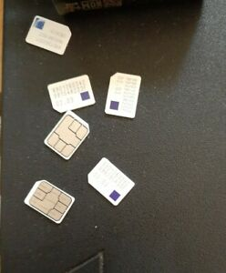 6 METROPCS SIM CARDS LOT