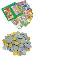 Australian Play Money 15 Plastic Notes (60), 15 x Coins (75) Learning Resources