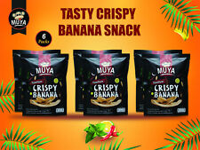 Muya Crispy Banana Fruit Chips Hi-Fibre Low Carb Healthy Snack (6x38gr) Tom Yum
