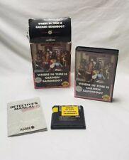 Where in Time Is Carmen Sandiego Sega Genesis 1992 Original Box and Game