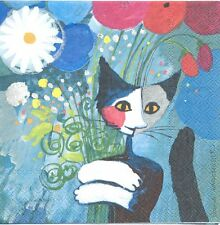 2 Serviettes en papier Chat Rosina Wachtmeister Paper Napkins Cat For You