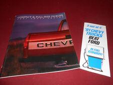 1991 CHEVROLET C/K R/V S-10 PICKUP TRUCK CATALOG + 91 FORD vs. CHEVY BROCHURE