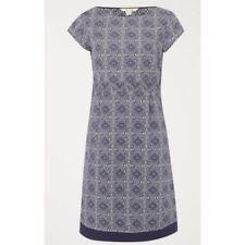 EX WHITE STUFF Purple Summer Short Sleeve Shift Dress Size 8 -16 Ebony