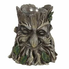 Verde Uomo Portacandele - Arredo Casa Pagano Dio Uomo di Legna Mistico Magico