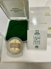1988 $5 Parliament House Proof Coin  in Box Royal Australian Mint UNC