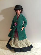 "Barbie Doll Vintage 1975 Is 11 1/2"" Tall Green Coat Black Hat"
