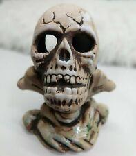 Cast Skull Ceramic Figure Decoration Bone Head Ornament Statue Aquarium