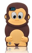 Brown Cheeky Monkey Custodia morbida in silicone per Apple Ipod Touch 5