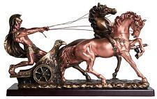 Roman Warrior with Chariot Statue Figurine Bronze