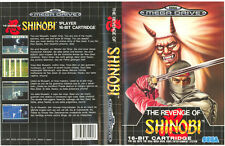 The Revenge Of Shinobi Sega Mega Drive PAL Replacement Box Art Case Insert Cover