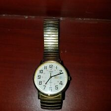 Vintage Gold Tone Timex Military Style Mens Watch