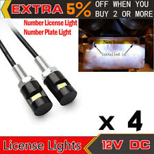 4 Pack White LED SMD Motorcycle/Car/ License Plate Screw Bolt Light Lamp Bulb