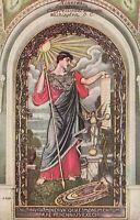 Postcard Minerva Painting Congressional Library Washington DC