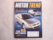 Motor Trend 2005 July Chevrolet Impala & Silverado SS Mercedes CLS BMW M6 Zeta