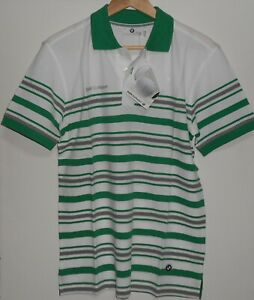 BMW Golfsport Polo Shirt MEN White Green Size S - ORIGINAL - NEW