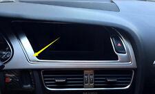 2008-2015 For Audi A4 B8 Interior Dashbaord Navigation GPS Cover Frame Steel 1pc