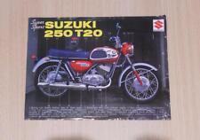Suzuki 250 hoja de especificaciones T20 SUPER SPORT MOTOCICLETA c1967